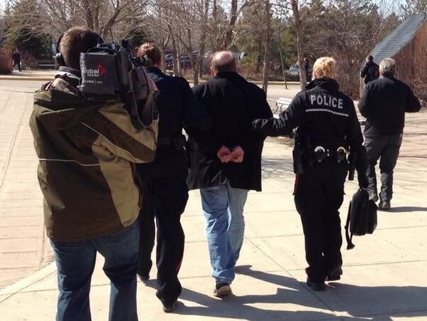 crime-km-regina-anti gay american speaker peter labarbera arrested at university of regina-april 14 2014-2
